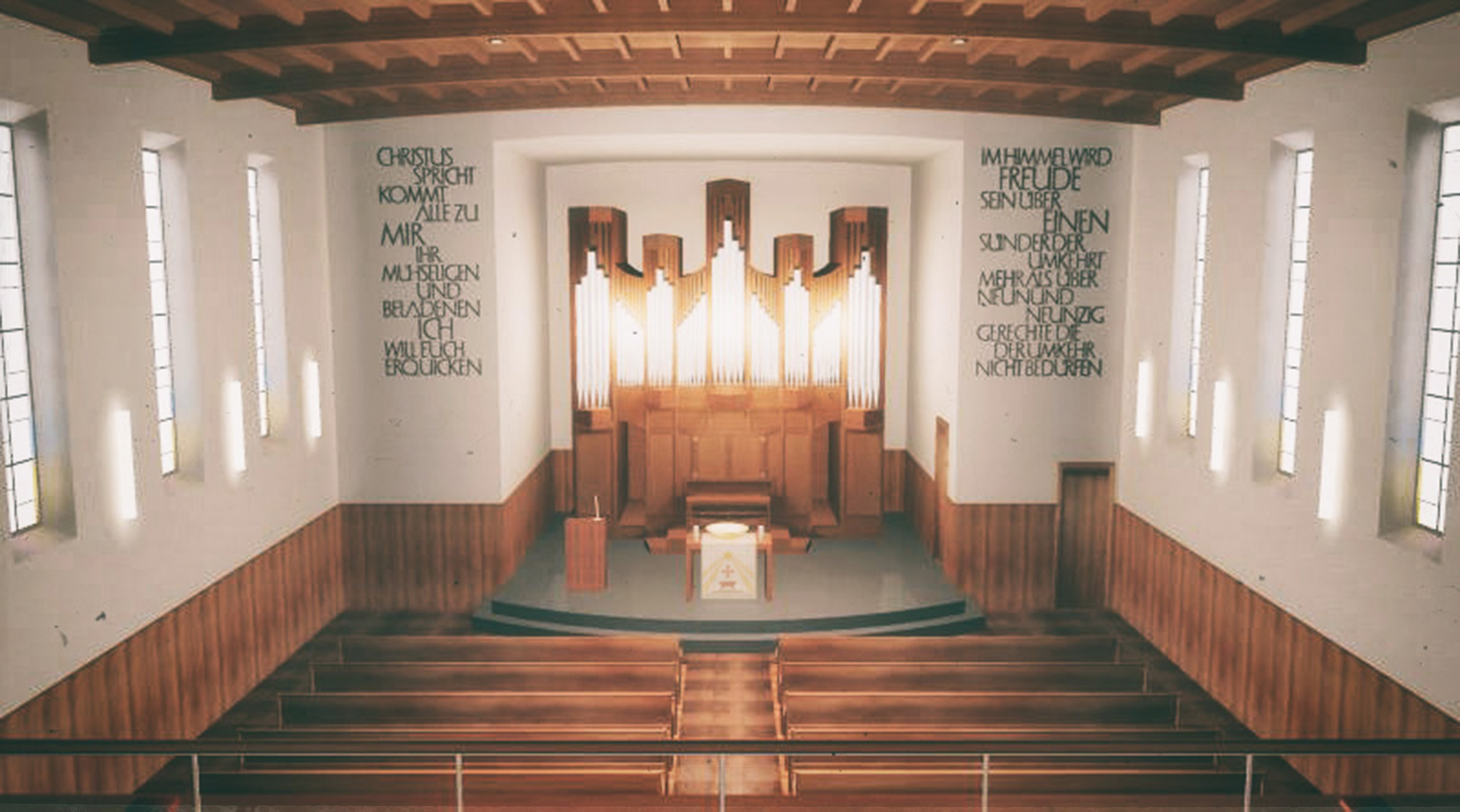 Anjana Perera Visualisierung - Kirche Muenchwielen - ARW Architekturbüro Rüegger und Wyser