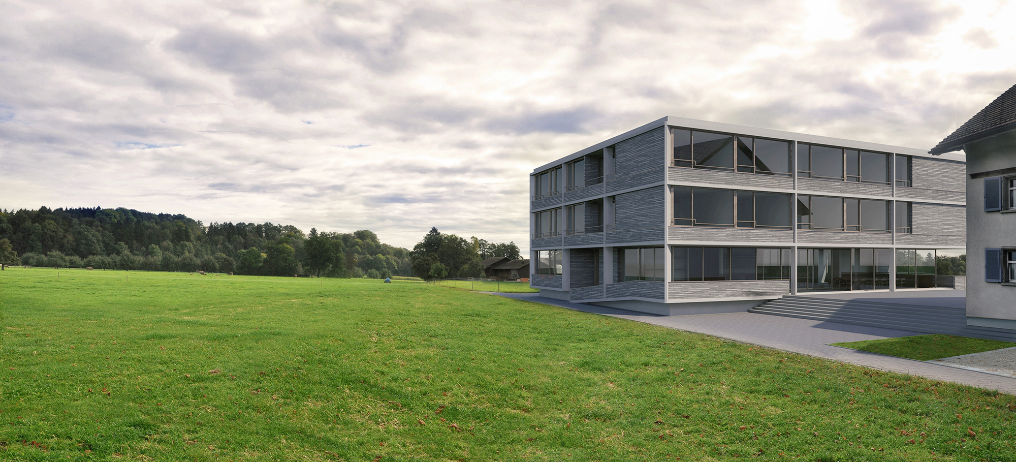 Anjana Perera Visualisierung -  Altersheim in Zuzwil  mit Keller Architekten GmbH