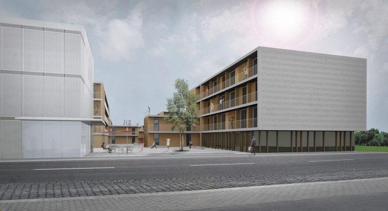 Anjana Perera Visualisierung - Studentenwohnheim in Ulm - Ackermann + Renner Architekten, Berlin