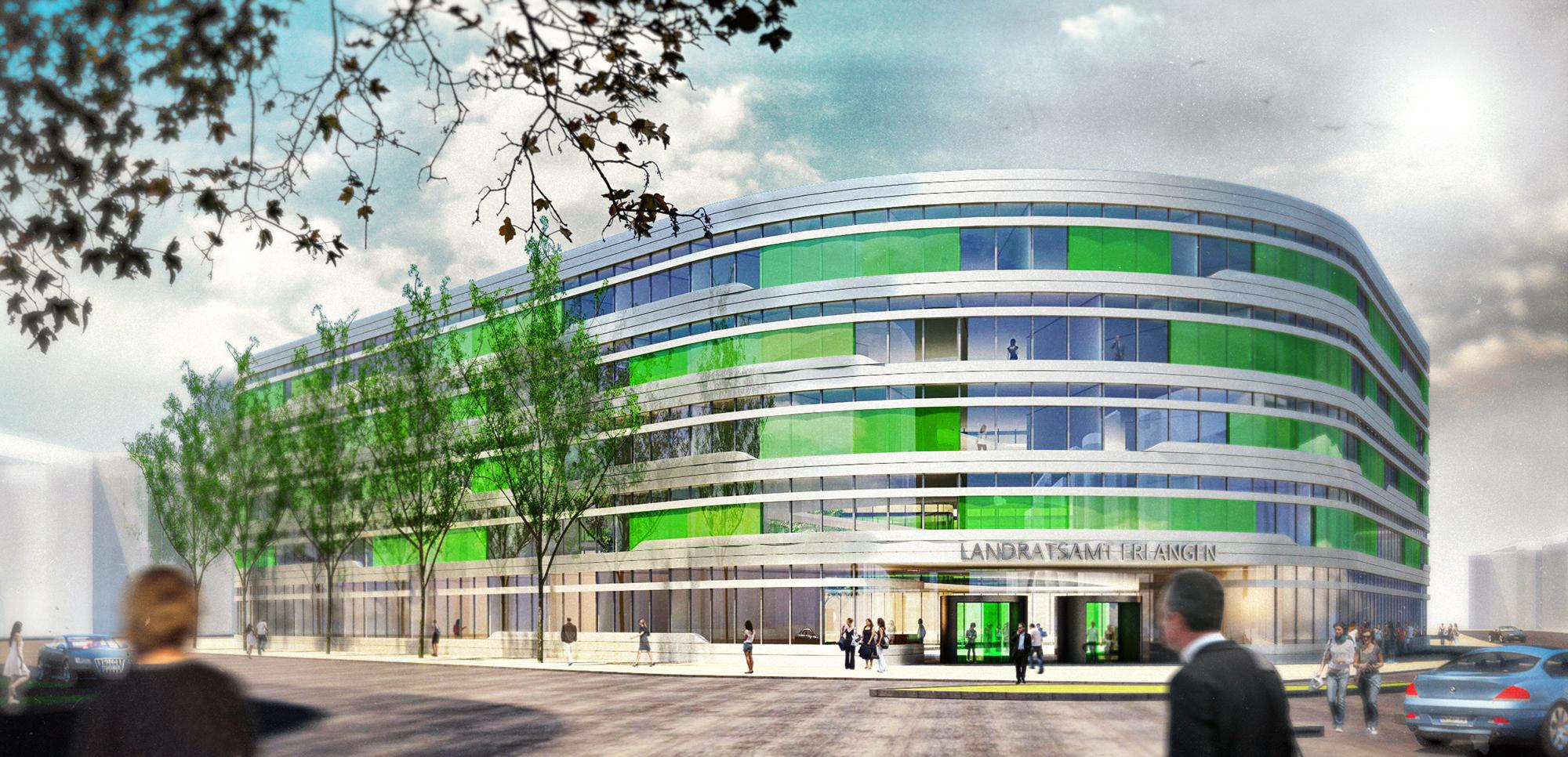 Anjana Perera Visualisierung - Wettbewerb Rathaus Erlangen - Ackermann + Renner Architekten GmbH