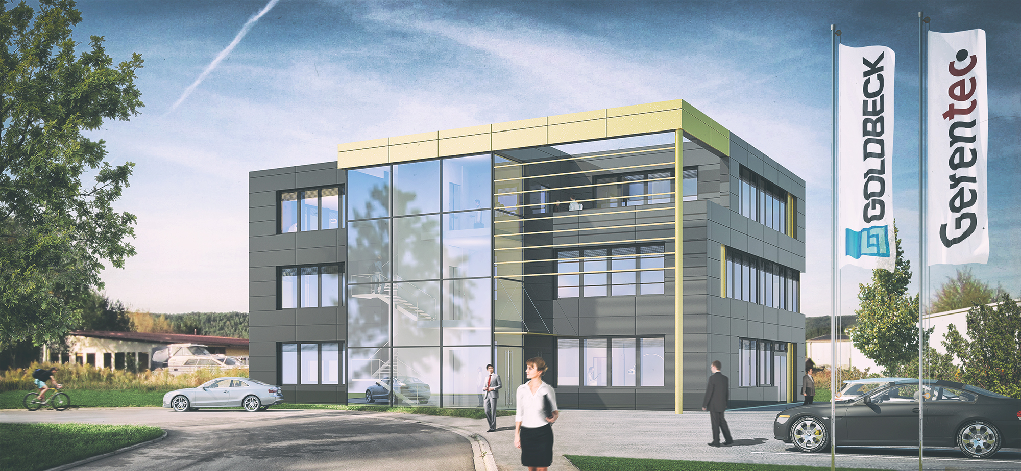 Anjana Perera Visualisierung - Bürogebäude Gerentec GmbH, Radolfzell - Goldbeck Süd
