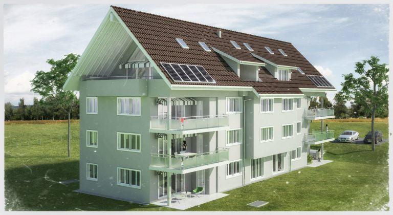 Anjana Perera Visualisierung - MFH Albisstrasse in Mettmenstetten - Architekturbüro AG Markus Hächler