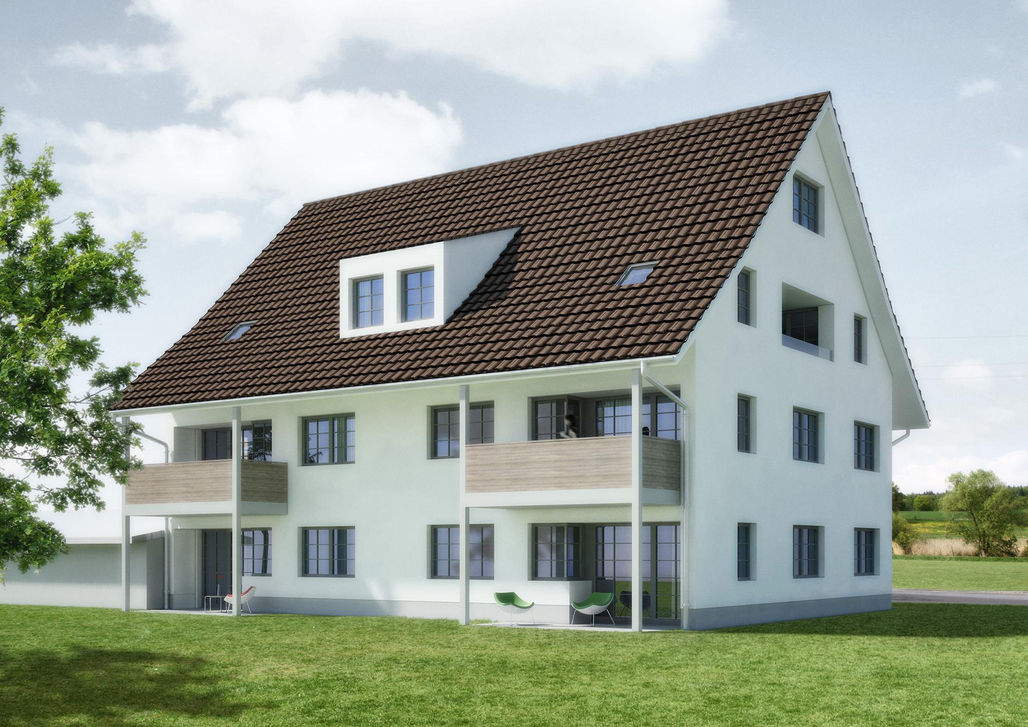 Anjana Perera Visualisierung - Mehrfamilienhaus in Fehraltorf für Sommerhaus AG, Steinhausen