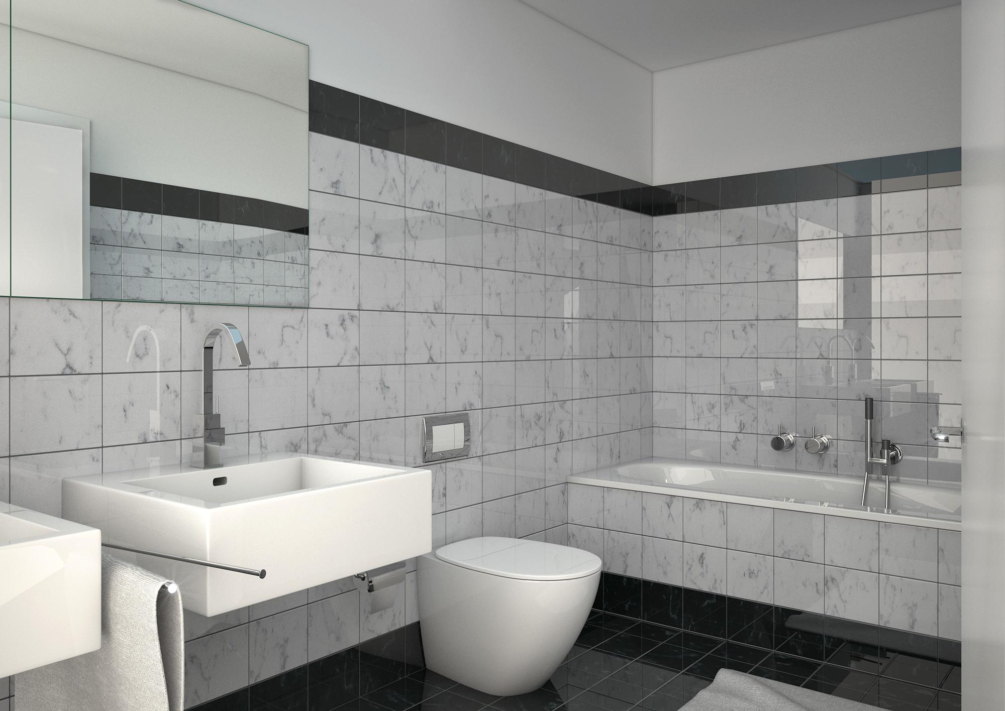 Anjana Perera Visualisierung -  Badezimmer für Sommerhaus AG Steinhausen