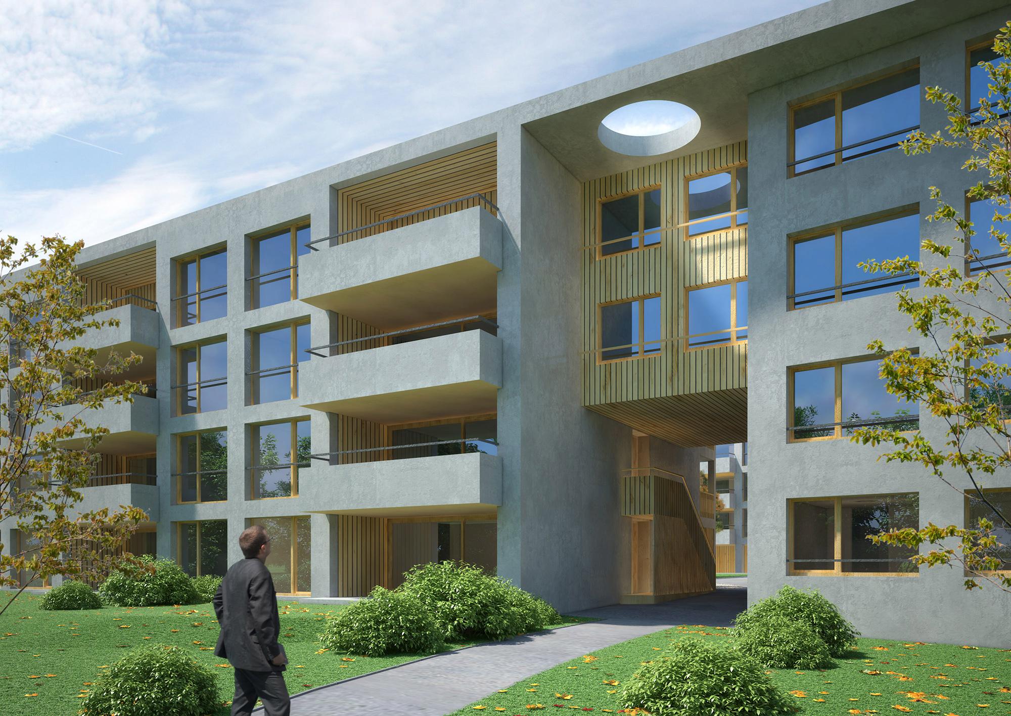Anjana Perera Visualisierung - Wohnbebauung Sonnenfeld - mit Air Architekten AG, Kreuzlingen