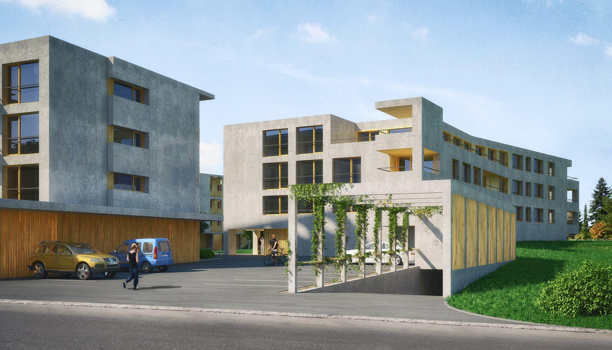 Anjana Perera Visualisierung - Wohnbebauung Sonnenfeld Air Architekten AG