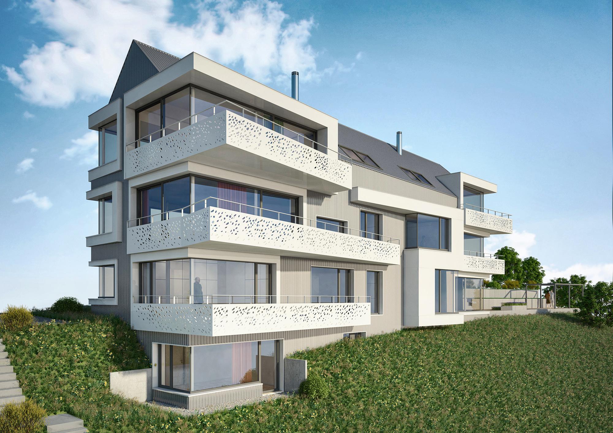 Anjana Perera Visualisierung - Mehrfamilienhaus - Jean Claude Mahler Architekt
