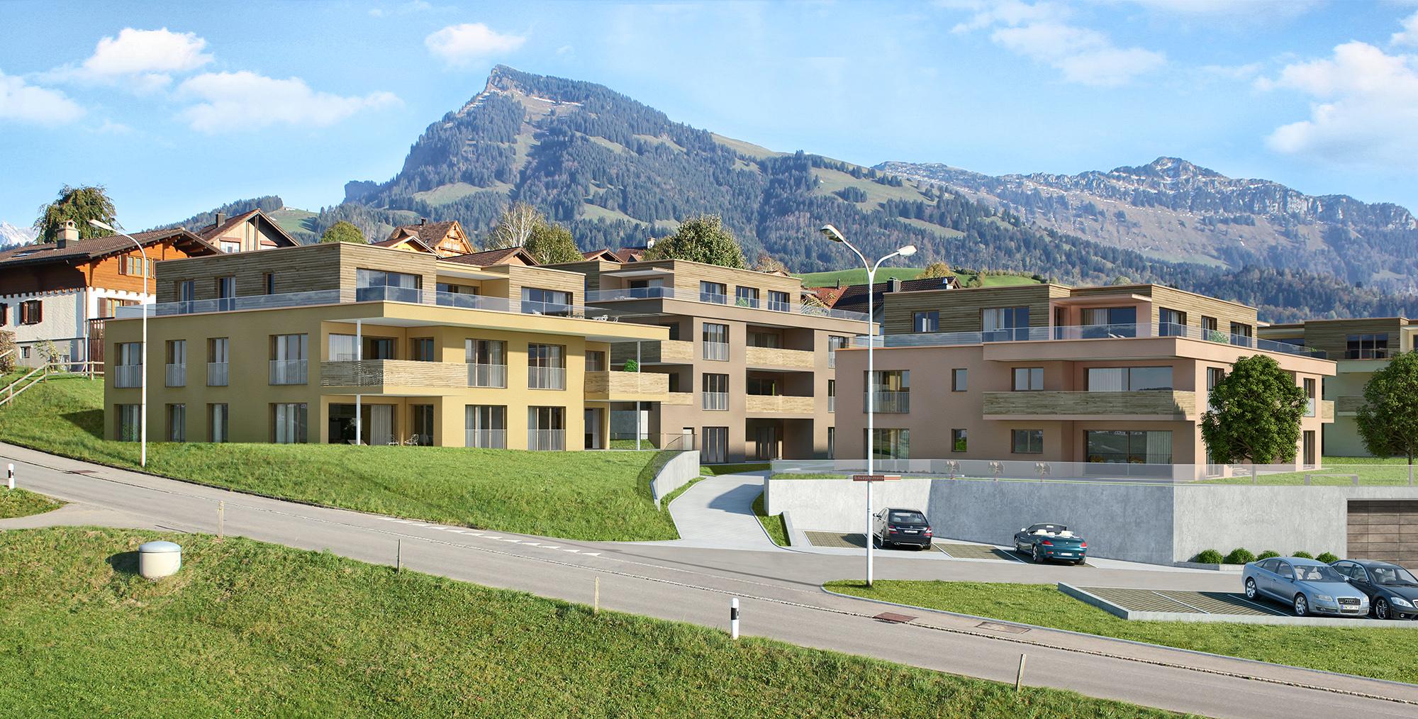 Anjana Perera Visualisierung -  Wohnbebauung in Uzwil SG  für D+D Projekt Consult AG