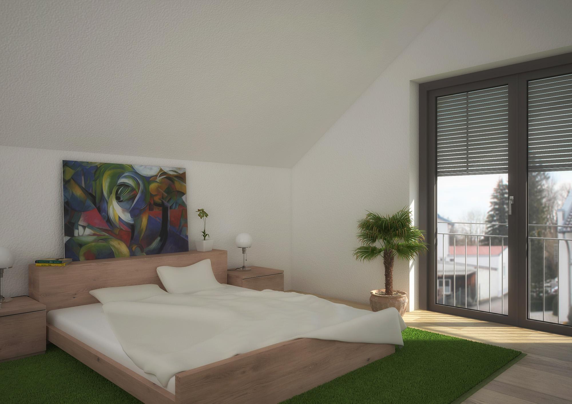 Anjana Perera Visualisierung - Schlafzimmer in Bad Walssee - Baupunkt Weingarten