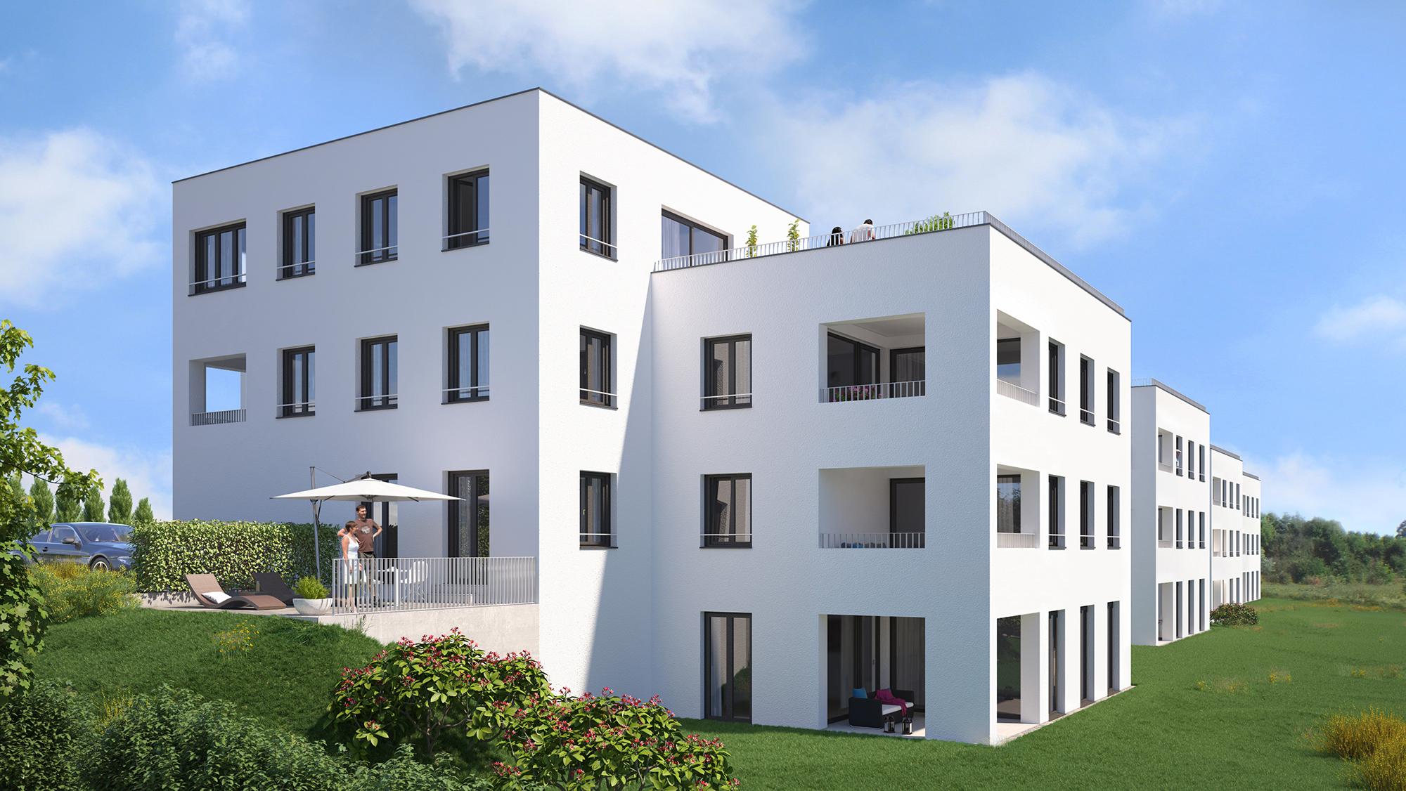 Anjana Perera Visualisierung -  Wohnbebauung in Aulendorf- für BauPunkt Weingarten