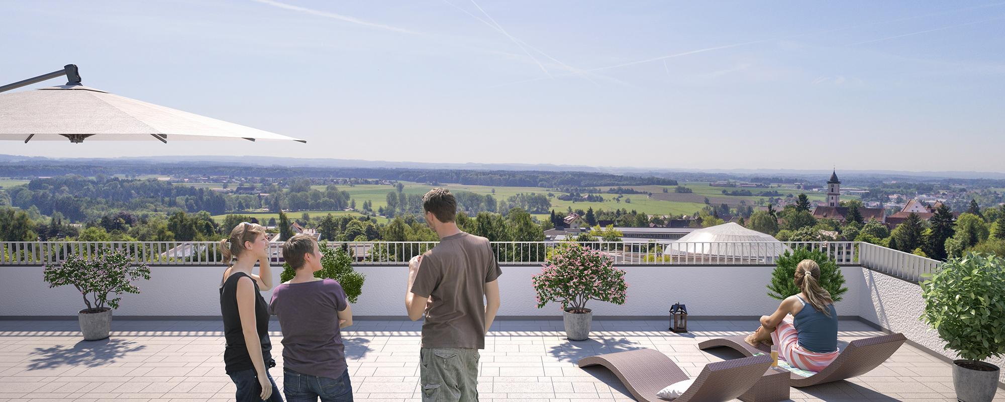 Anjana Perera Visualisierung -  Wohnbebauung in Aulendorf - für BauPunkt Weingarten
