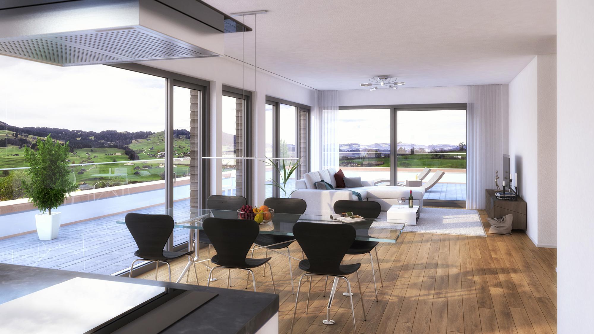 Anjana Perera Visualisierung - Wohnbebauung in Uzwil  - D+D Projekt Consult AG