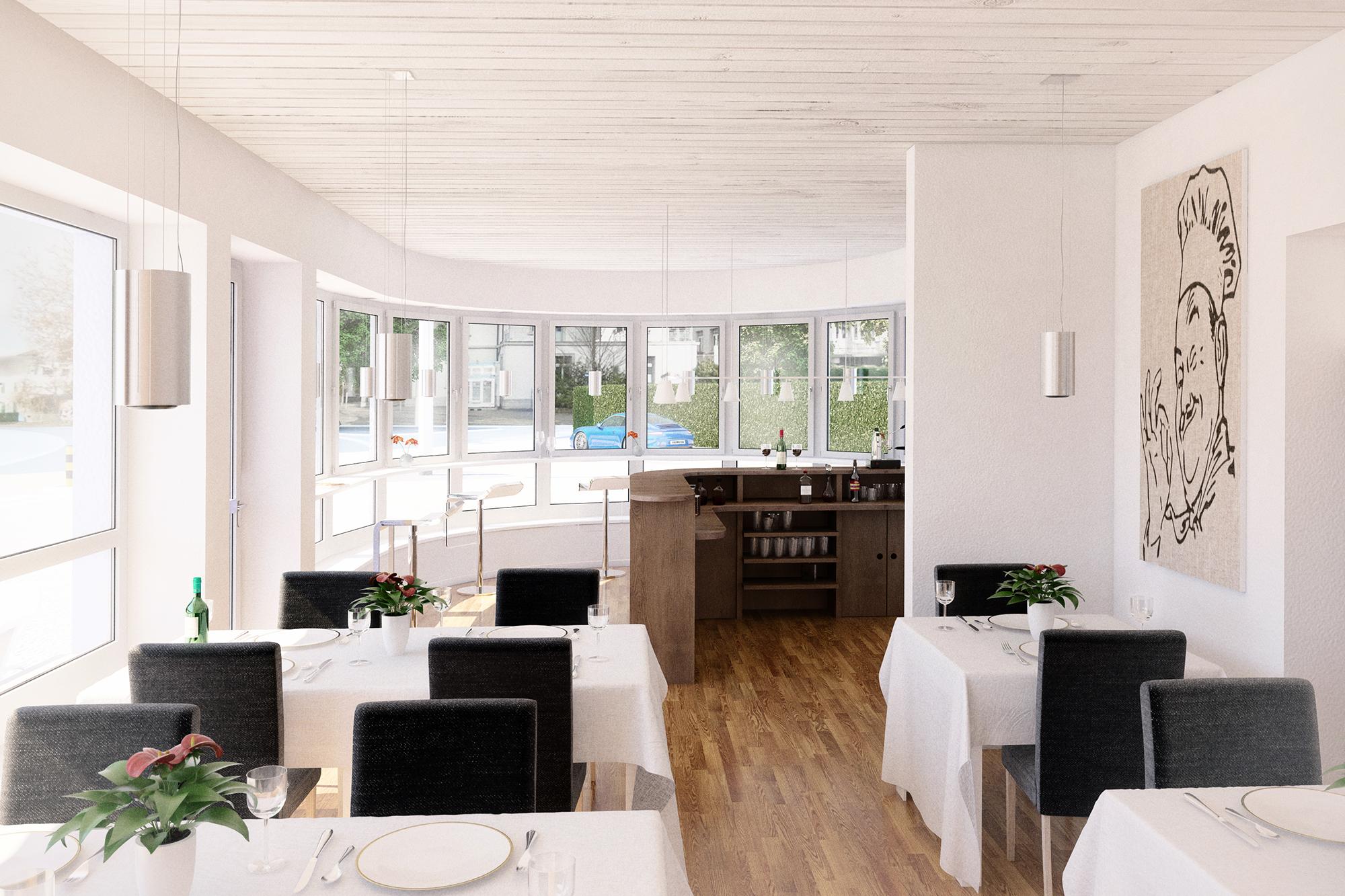 Anjana Perera Visualisierung - Restaurant Göhnhartweg, Aarau - HM-Architektur AG, Kreuzlingen
