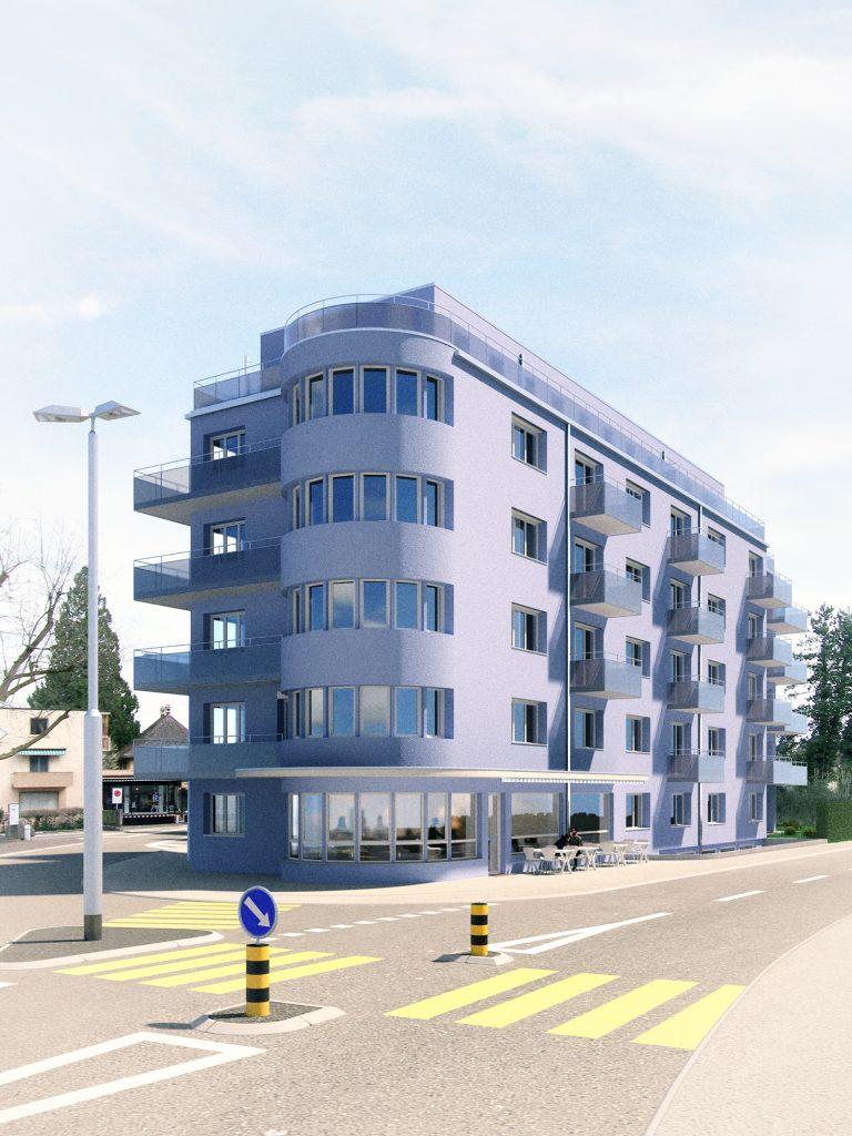 Anjana Perera Visualisierung - Wohnanlage Göhnhartweg in Aarau - HM-Architektur AG, Kreuzlingen