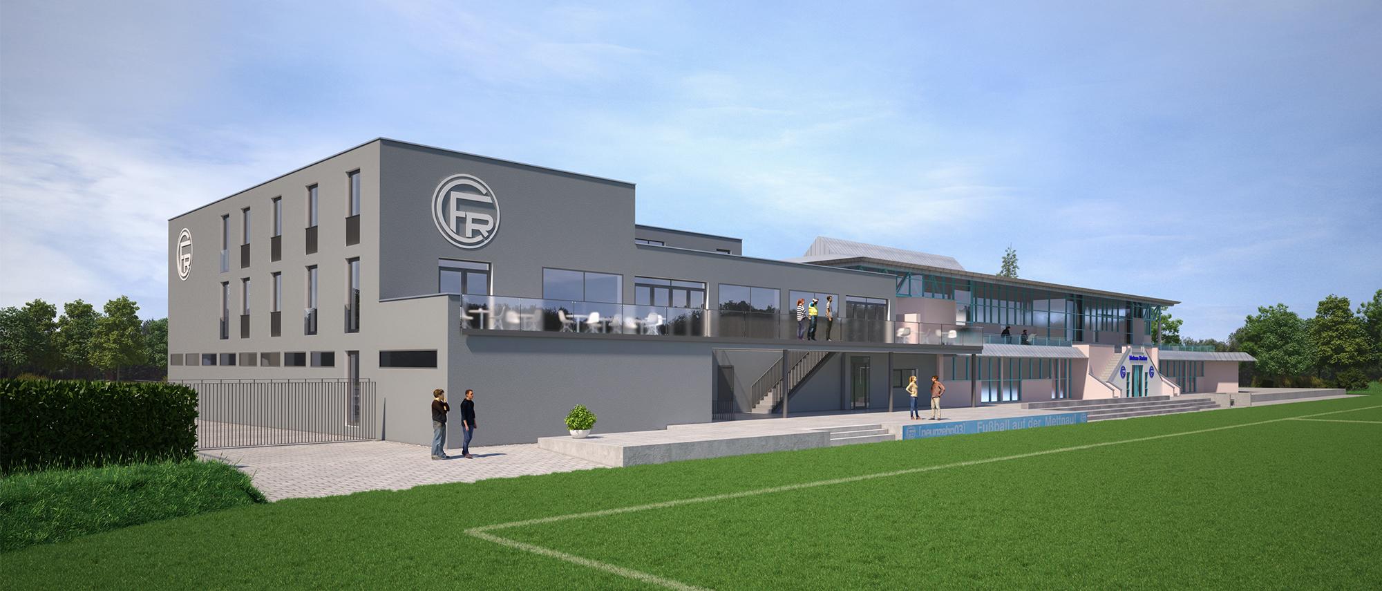 Anjana Perera Visualisierung -  FC 03 Clubheim und Sporthostel - Kiefer. Textile Architektur