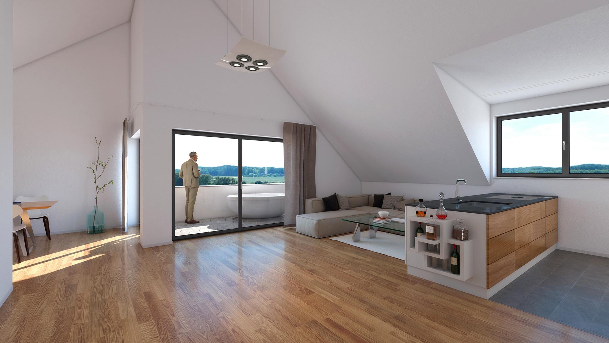 Anjana Perera Visualisierung -  Reihenwiese in Hemmishofen - HM-Architektur AG, Kreuzlingen